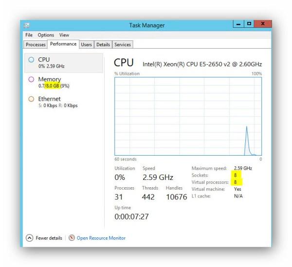 Agregar CPU y RAM en caliente