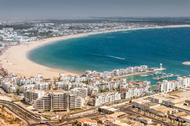 City view of Agadir at summer, Morocco