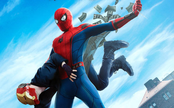 Recorte póster de Spider-Man: Homecoming (2017) homenaje a Amazing Fantasy #15