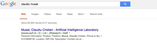 Google Search Claudiu Mușat