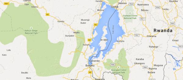 lacul Kivu - harta