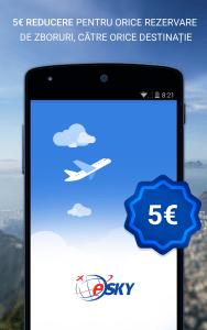 Se lansează aplicația eSKY.ro pentru dispozitive mobile