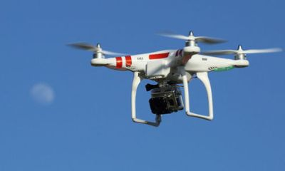 Drona in misiune de salvare