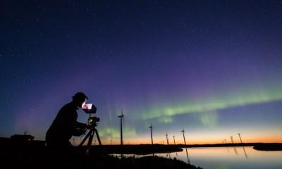 Aurora boreala surprinsa cu ME20F-SH