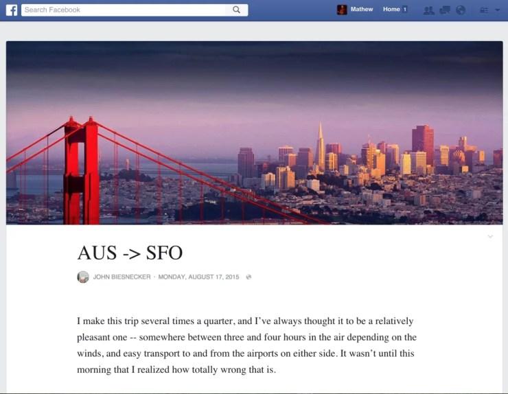 Facebook rediseña la herramienta Notas