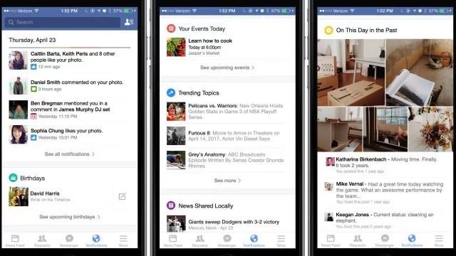 Nuevas notificaciones de Facebook
