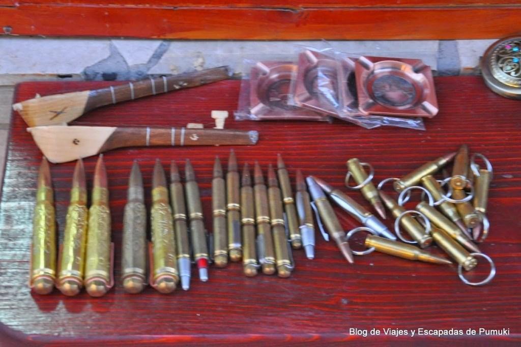 balas como souvenir en Mostar