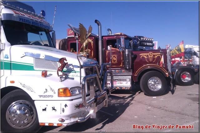 Camiones en el paddock del GP de camiones de Madrid, Jarama