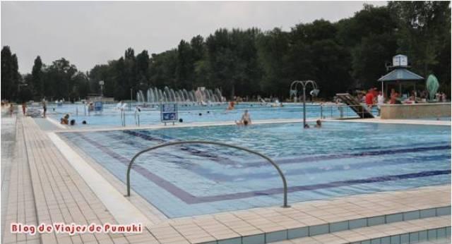 Palatinus es un complejo con grandes piscinas al aire libre y gran superficie de esparcimiento. Está orientado para ir en verano.