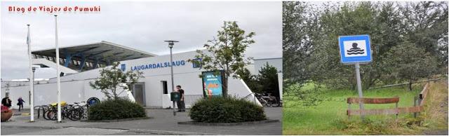 Señal Aguas termales en Islandia