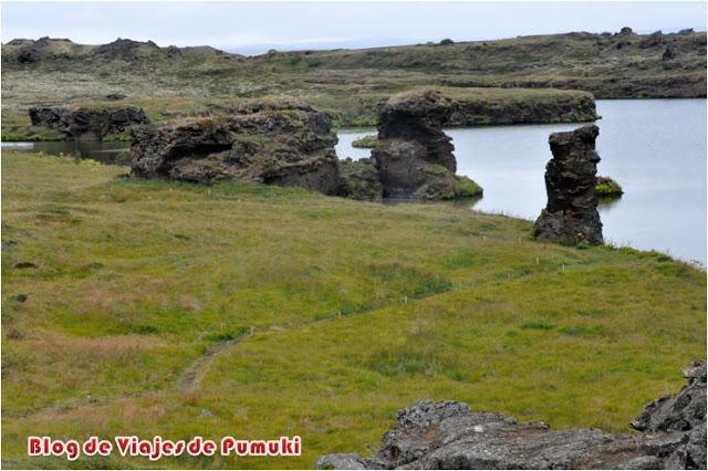 Formaciones de lava alrededor del lago Mývatn