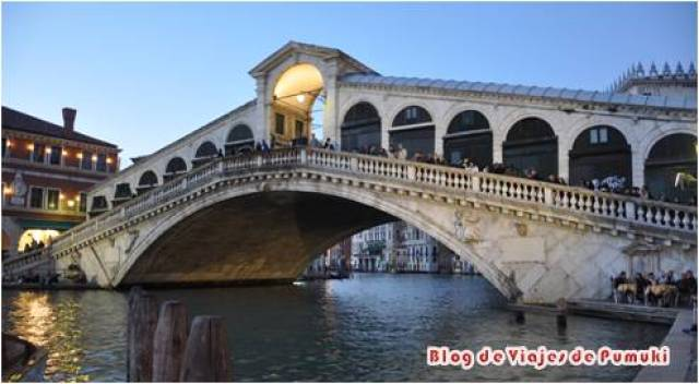 El Puente de Rialto al Atardecer.