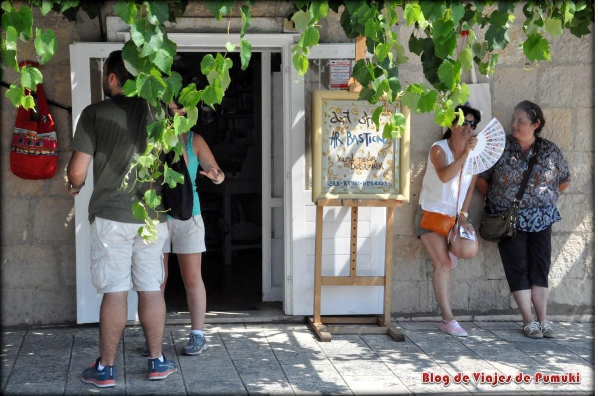 Kiosco en las murallas de Dubrovnik