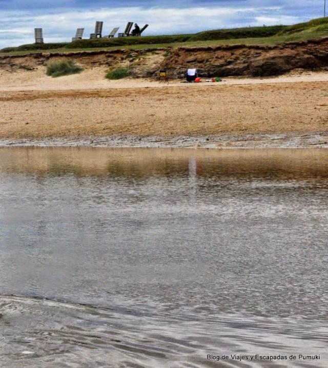 Playa de agua caliente termal