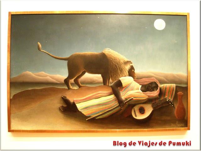 La Gitana Dormida de Henri Rousseau en el MoMa, Nueva York