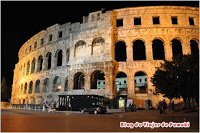 El Anfiteatro de Pula o Pula Arena en Istria, Viajar a Croacia.