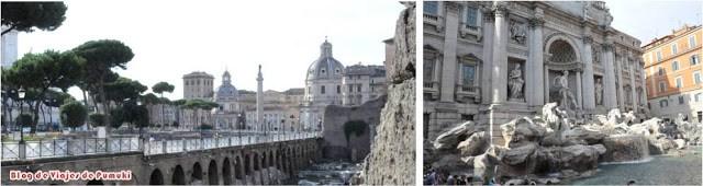 Centro de Roma y Fontana de Trevi. Blog de Viajes en Familia con niños por Europa