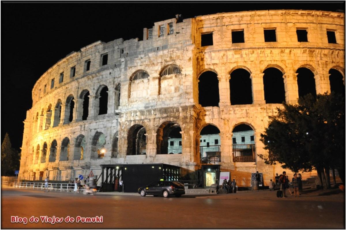 Anfiteatro de Pula en Croacia, ruta por Croacia de 15 días