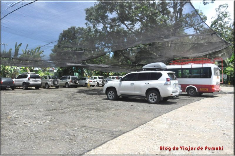 Parqueo o parking de Sixaola