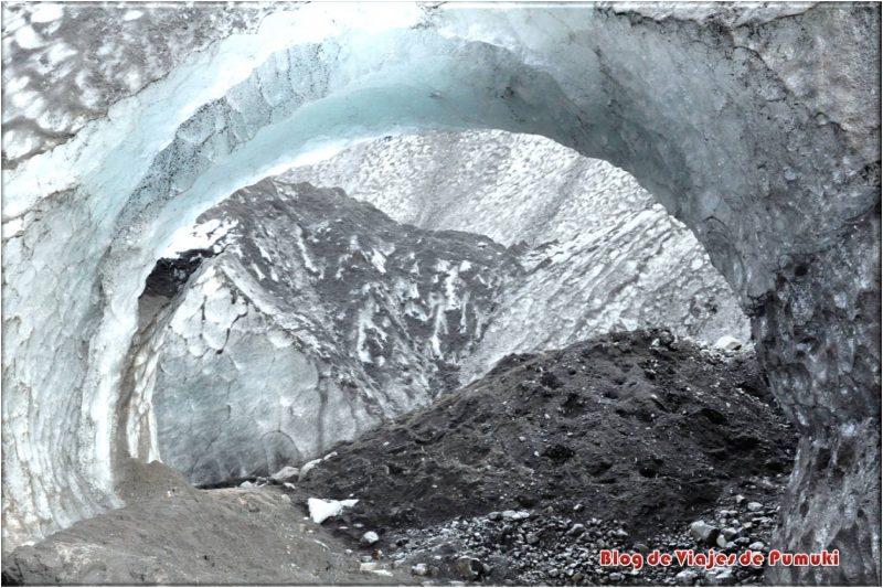Caprichos de hielo, glaciar Sólheimajökull, Islandia