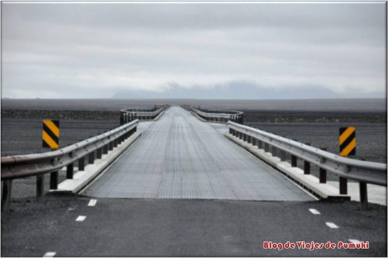 Puentes de un carril en las carreteras de Islandia