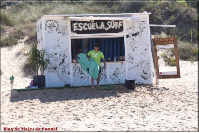 Escuela de surf en Cadiz