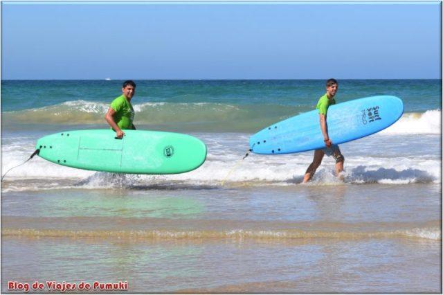 Después de hacer Surf en Cádiz