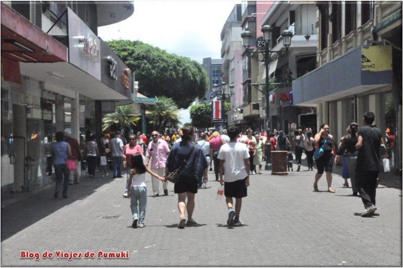 La Calle Central de San Jose de Costa Rica está llena de vitalidad