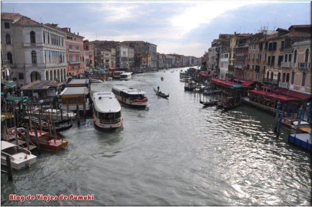 Las mejores vistas del Gran Canal desde el Puente de Rialto