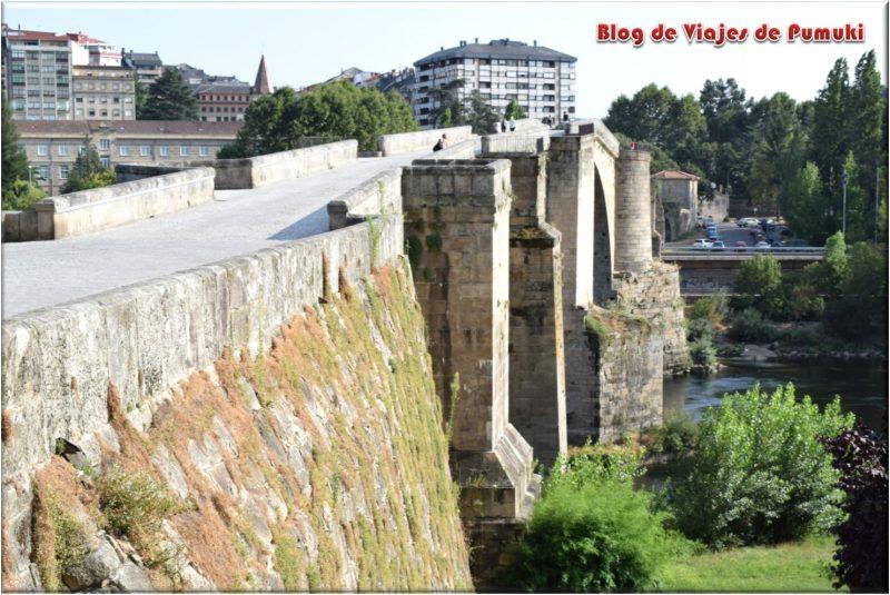 """El """"Puente Romano"""" de Orensesobre el río Miño es en realidad un puente medieval"""