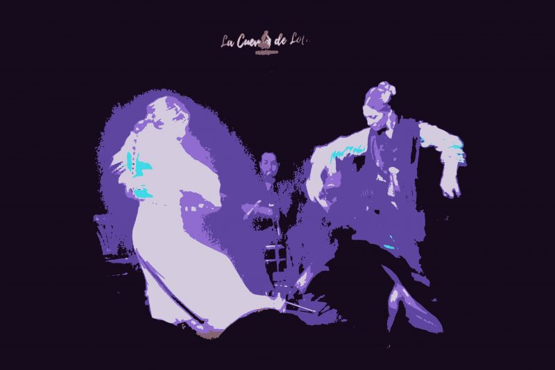 Bailaoras de flamenco en la Cueva de Lola, Madrid
