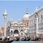 Plaza San Marcos desde el Gran Canal de Venecia