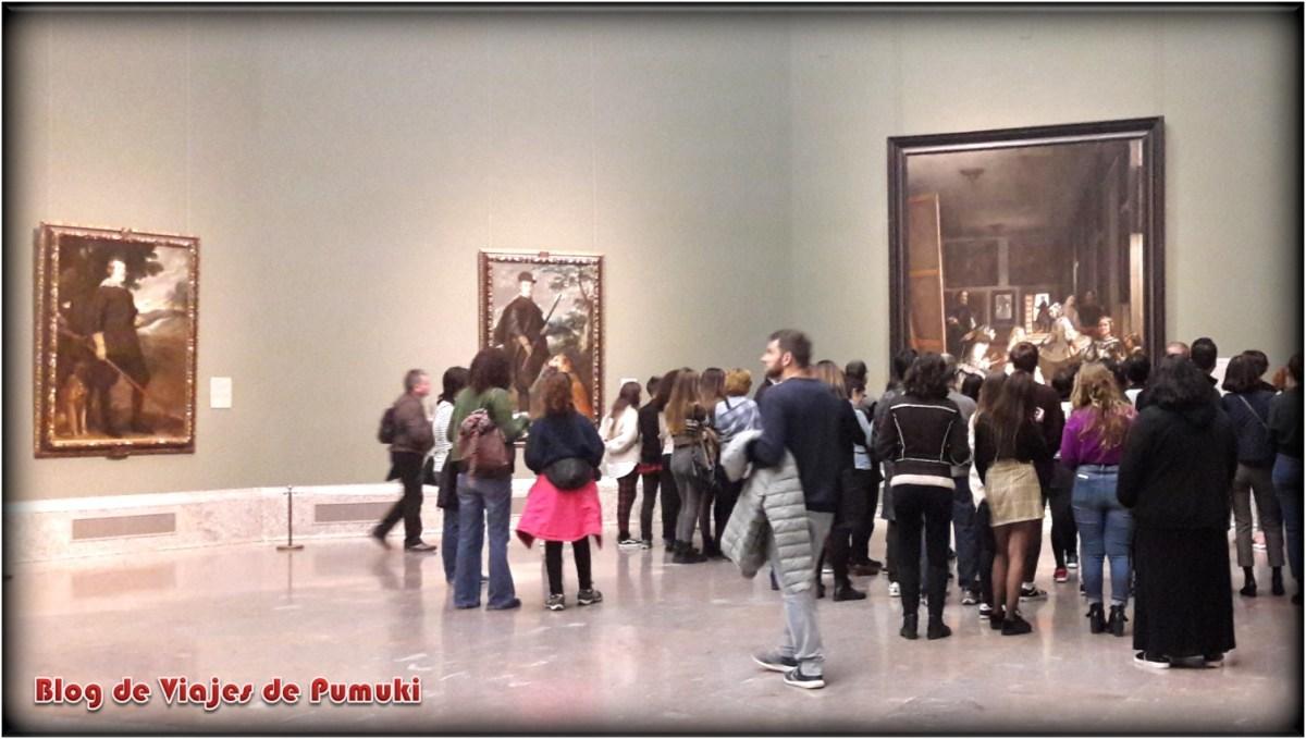 Sala de las Meninas en el museo del Prado de Madrid