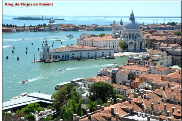Vista aerea de Venecia desde el Campanile