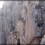Paredes verticales en el Caminito del Rey