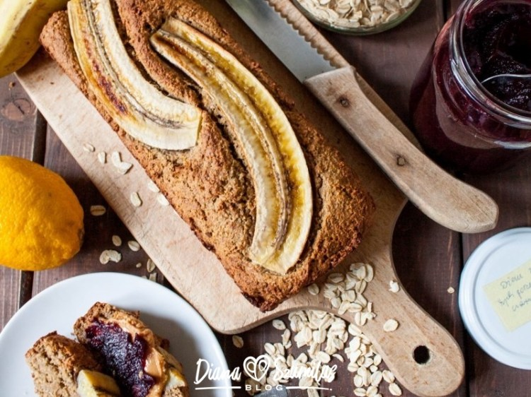 Owsiany chlebek bananowy – najprostszy