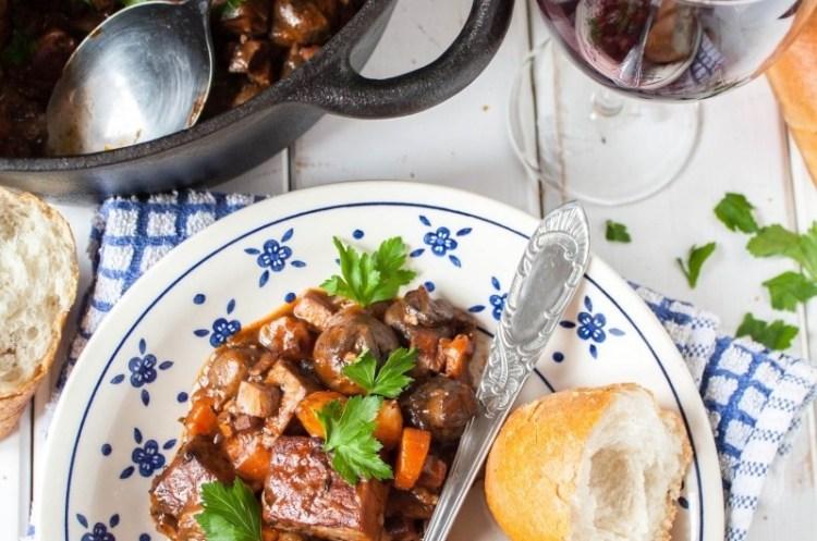 Tofu (a'la boeuf) bourguignon