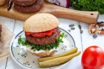 wegański burger białkowy