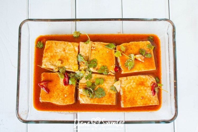 Pieczone tofu w marynacie