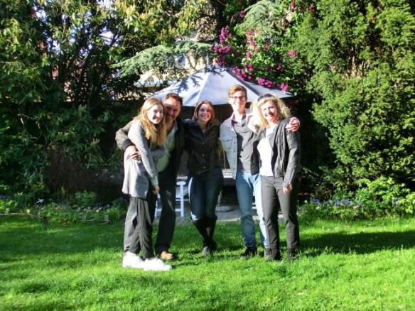 natalya with host family