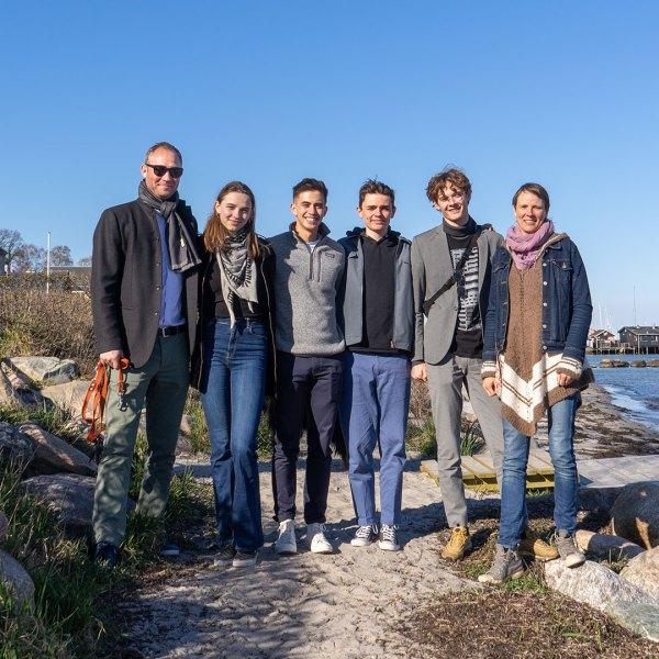 familien reinbacher og dis-studerende thomas