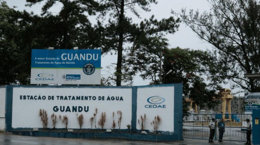 Estação de tratamento do Guandu, que fornece água da Cedae