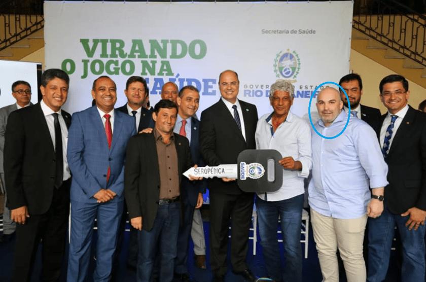 Subsecretário Gabriell Neves em evento com o governador Wilson Witzel
