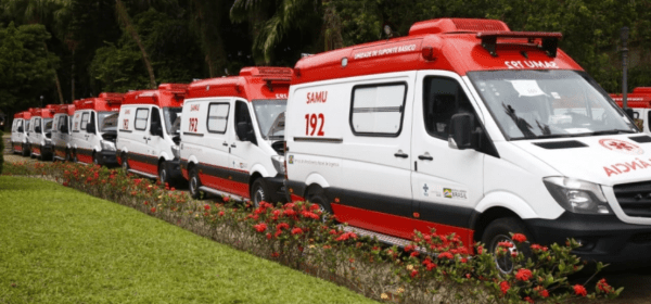 Ambulâncias do Samu adquiridas pelo governo do estado do RJ
