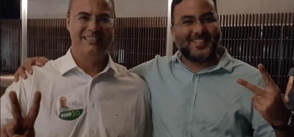 Wilson Witzel com o novo subsecretário executivo de Saúde, Iran Pires Aguiar