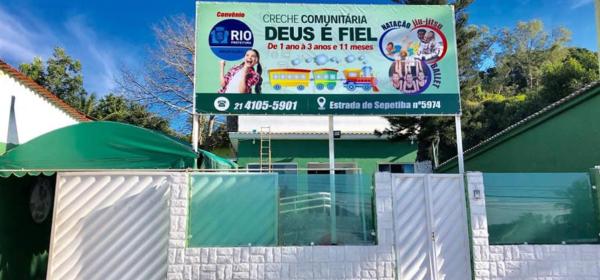 Creche Comunitária Deus é Fiel, que tem convênio com a prefeitura do Rio