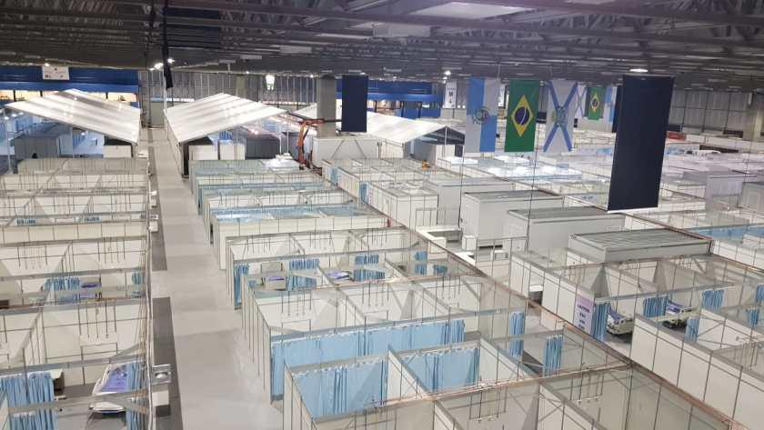Hospital de Campanha do Riocentro, uma das unidades onde Bruno Kopke tem cargo