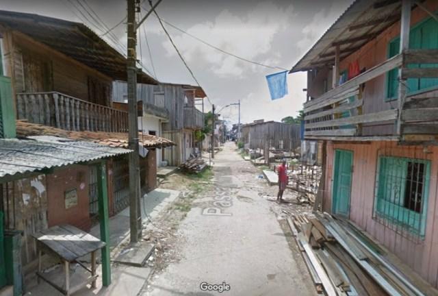 Passagem Cabral no bairro da Terra Firme Foto: Google Maps