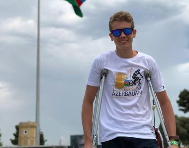 Mattheus Henning deixa competição no Azerbaijão após tombo