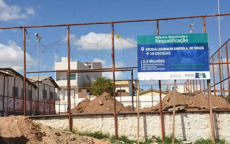 Edson Vieira anuncia R$ 500 mil para requalificação da escola e construção de quadra coberta na escola Lucinalva Santos no bairro Palestina
